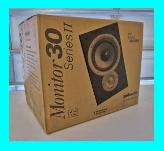 POLK AUDIO MONITOR 30 HOME THEATER BOOKSHELF SPEAKERS ★SERIES II