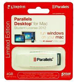 New Parallels Desktop 8 for Mac w/ Free 4GB DataTraveler USB Flash