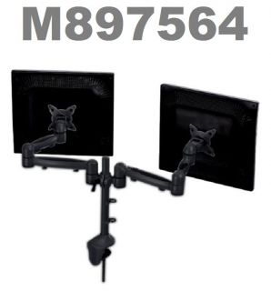 Computer Wide Screen Double Monitor Full Motion Dual Arm Desk Mount
