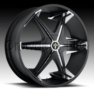 Dub Truck SUV Wheel Rim Big Homie Black 24 inch 6 Lug
