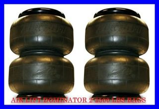 AIR LIFT 2 PACK DOMINATOR 2500 LBS AIR BAGS SUSPENSION