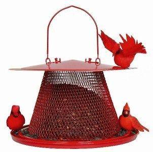 No No RED CARDINAL BIRD FEEDER SQUIRREL PROOF