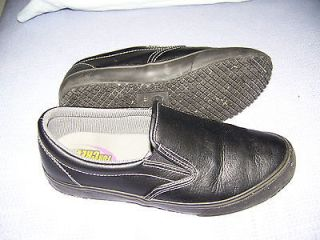 Womens black kitchen non slip shoes, Shoes for Crews, size 8