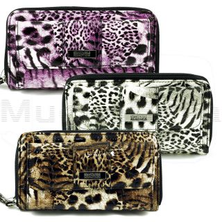 KENNETH COLE REACTION WOMENS URBAN ORGANIZER CLUTCH WALLET EXOTIC
