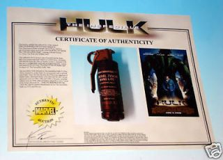 Stark Industries HULK Film Prop MARVEL STUDIOS Avengers Iron Man w