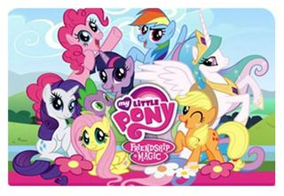 My Little Pony Friendship Magic Magical Colorful pony play mat