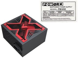 LeadPower Blue 650W Max ATX Power Supply w/12cm Fan, 20/24 Pin, SATA
