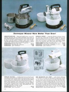 1961 AD Dormeyer Mixwell Toastmaster Food Mixer Knapp Monarch Baker