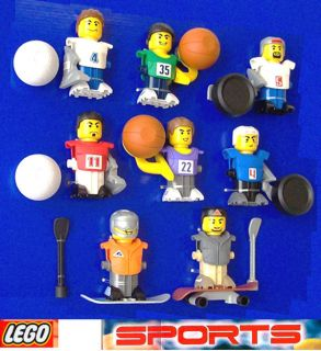 McDonalds 2004 Sports 8 toy complete set Lego Promo cake decoration
