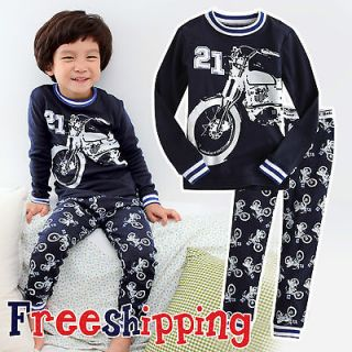 Baby&Toddler Kids Boy Sleepwear Pajama Set  Motor Cycle