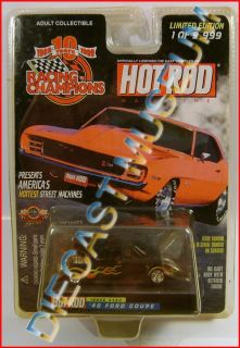 1940 40 FORD COUPE FLAMES HOT ROD MAGAZINE DIECAST RACING CHAMPIONS