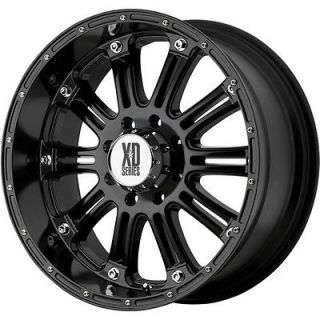 XD HOSS 5X150 LAND CRUISER TUNDRA 2WD 4WD BLACK WHEELS RIMS FREE LUGS