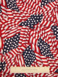 Stars & Stripes Patriotic American Flag Red   VIP Cranston Cotton