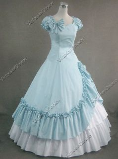 Civil War Southern Belle Cotton Evening Gown Dress Reenactment 208 L