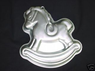 ROCKING HORSE cake pan Merry Go Round PONY mold tin CHRISTMAS HOBBY