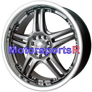 Chromium Black Rims Wheels 04 06 08 13 Acura TSX 02 RSX Type S 03 TL
