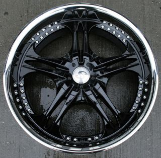 STRUCTURE SA70 22 BLACK RIMS WHEELS CHEVROLET TRAILBLAZER / 22 X 9.5