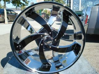 22 INCH VELOCITY 825 CHROME & BLACK RIMS AND TIRES CHRYSLER 300M