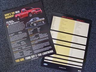 2004 Ford SVT Lightning vs. Dodge Ram SRT 10 Data Sheet   Rare and Out