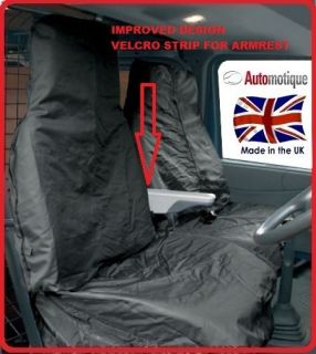 FORD TRANSIT (06 ON)VAN SEAT COVER SET HEAVY DUTY WATERPOOF + ARMREST