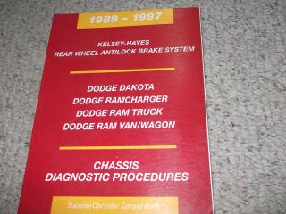 1989 Dodge RAM VAN WAGON CHASSIS DIAGNOSTIC Service Shop Repair Manual