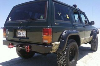 Jeep Cherokee Rear Offroad Bumper with Hitch, D Rings