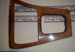 JAGUAR XJ6 Shifter and radio trim bezel (wood grain) 1987   1995 (Fits