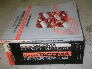 2000 Toyota TACOMA TRUCK Service Shop Repair Manual Set FACTORY OEM
