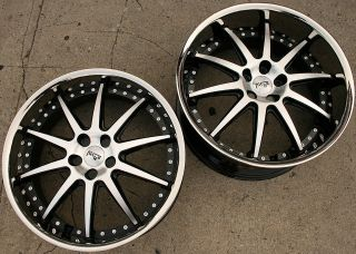 NICHE SPA 22 BLACK RIMS WHEELS BMW E39 E60 5 Series / 22 X 9.0/10.5