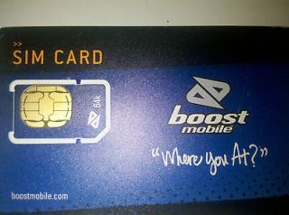 boost mobile card in Phone Cards & SIM Cards
