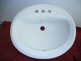 Vtg American Standard Wall Mount White Porcelain Bathroom Sink Retro