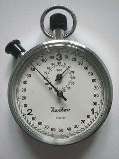 HANHART Stop Watch DANISH MILITARY HMAK Artillery Stop Watch RARE