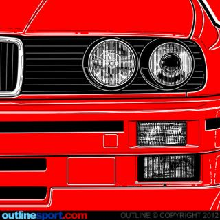 SHIRT by OUTLINE. Not affiliated with BMW. M3, ALPINA, TURBO, 325i