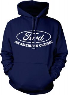 Ford Logo   An American Classic Automobile Car Mens Hoodie Sweatshirt