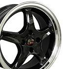 17 Black 4 lug Cobra Wheels Set of 4 Rims Fit Mustang® GT