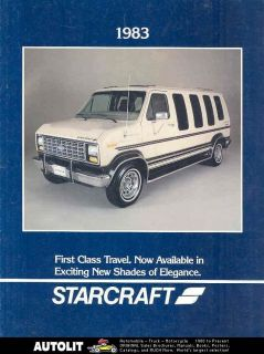 1983 Starcraft Ford Conversion Van Camper Brochure