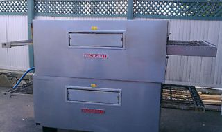BLODGETT MT3855G 19 TWIN BELT CONVEYOR NATURAL GAS PIZZA OVEN