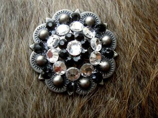 BERRY CRYSTALS BLING CONCHOS HORSE SADDLE HEADSTALL TACK BRIDLE