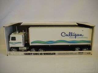Vintage Nylint Culligan Water Semi in Box Tractor Trailer Steel