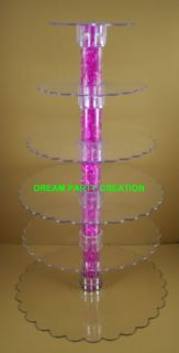 TIER Clear Acrylic Cupcake /CAKE / Centerpiece Stand