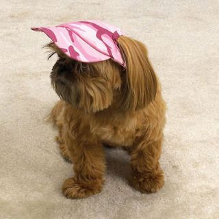 ANY SIZE   Casual Canine   PINK CAMO   DOG CAP VISOR