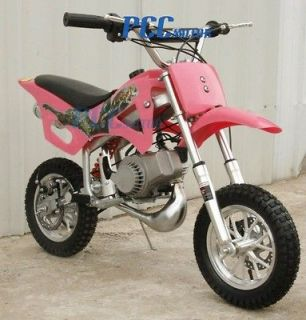 49CC 50CC 2 STROKE GAS MOTOR MINI DIRT PIT POCKET BIKE PINK U DB49A