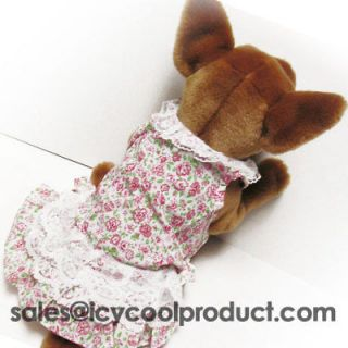 Floral Lace dress pet dog clothes APPAREL Chihuahua
