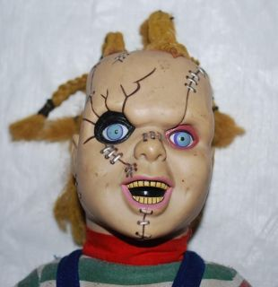 Bride of Chucky Childs Play Scary Doll Soft Body Corn Rows Hair Scar