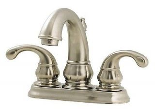 Pfister 48 DK00 Brushed Nickel Treviso Centerset Bathroom Sink Faucet