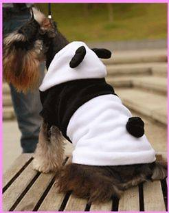 Panda Animal dog clothes Fleece pet costume cat Party outfit small