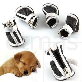 NEW Warm Cozy Pet Dog Boots Puppy Shoes For Small Dog 2 Colors size 1