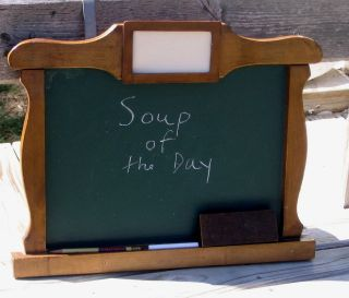 Vintage Chalkboard Wood Frame Kitchen School Chalk Board Blackboard