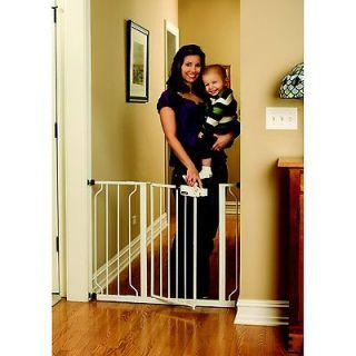 One Hand Touch Release Baby Pet Dog Security Gate