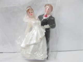 10X Bride & Groom Wedding Cake Decoration 4.5cm
